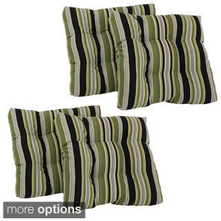 Outdoor Green Dining Chair Cushions (Set of 4)