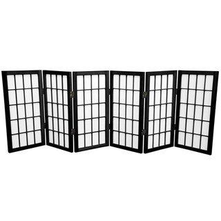 Wood/ Paper 2-foot 3-panel Miniature Windowpane Shoji Screen (China)