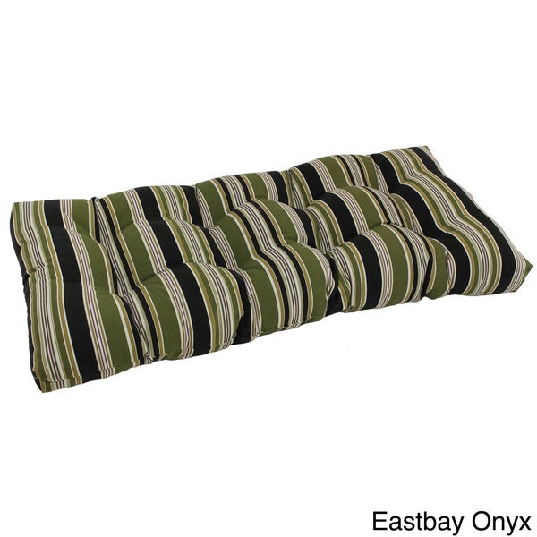Tufted Outdoor Loveseat Bench Cushion Overstock Shopping Big Discounts On Blazing Needles
