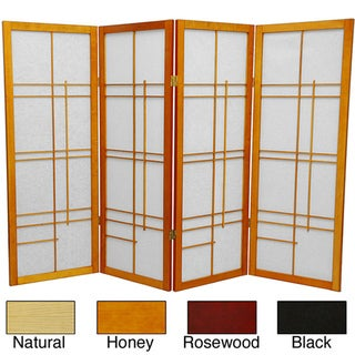 Wood and Rice Paper Eudes 48-inch Shoji Screen (China)