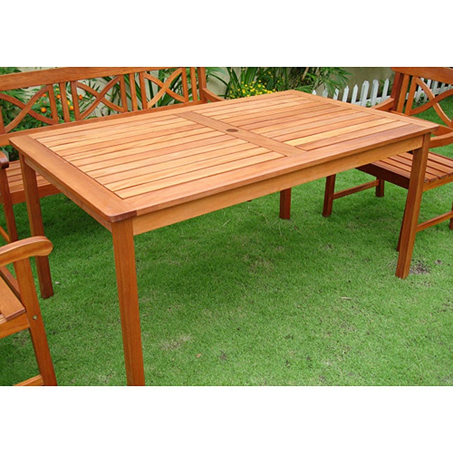 Details About Rectangular Table Patio Outdoor Furniture Deck Pool