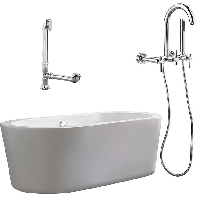 Tub Wall Mount Faucet : Ventura Apron Tub and Wall Mount Faucet Package - 11477609 - Overstock ...