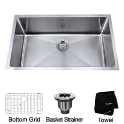 Kraus 30-inch Undermount Single Bowl Stainless Steel Kitchen Sink