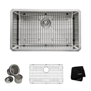 Kraus 30-inch Undermount Single Bowl Steel Kitchen Sink