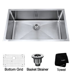 Kraus 32-inch Undermount Single Bowl Stainless Steel Kitchen Sink