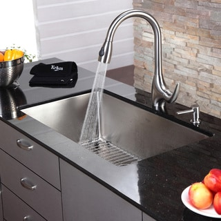 Kraus 32-inch Undermount Single Bowl Steel Kitchen Sink
