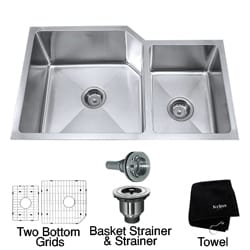 Kraus 32-inchUndermount 60/40 Double Bowl Steel Kitchen Sink