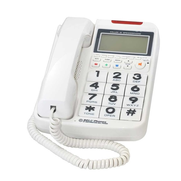 Northwestern Bell Corded Phone with Big Buttons and Caller ID
