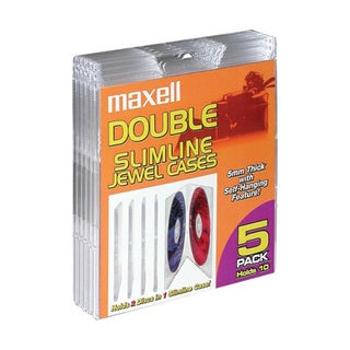 Maxell Double Slim Jewel Cases (Pack of 5)