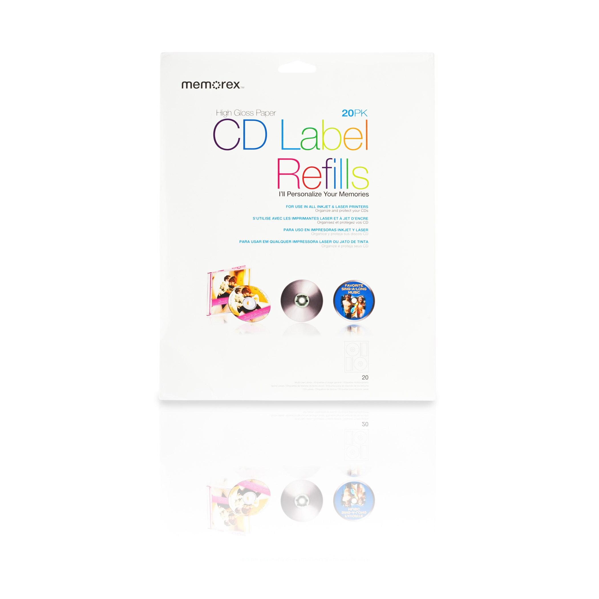 Memorex CD/DVD Labels (Pack of 20)