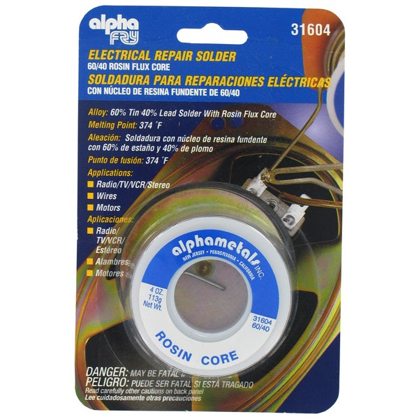 American Terminal At-31604 Solder 60-40 Rosin Core