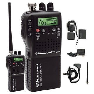 Midland 75-822 Mini 40-channel Cb Radio With Weather/all-hazard Monitor & Mobile
