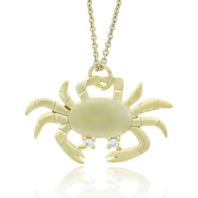 Icz Stonez 18k Yellow Gold over Sterling Silver Crab Necklace at Sears.com
