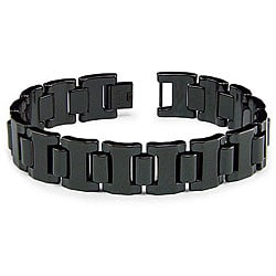 Men's Black-plated Tungsten Carbide Gladiator Bracelet
