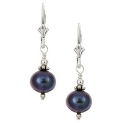Charming Life Sterling Silver Grey Freshwater Pearl Earrings (7-8 mm)