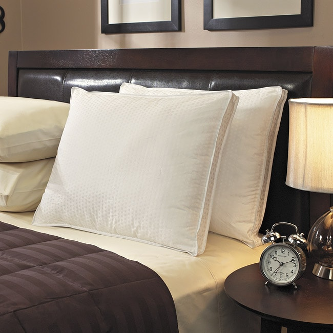 Down-like 500 Thread Count Medium Soft Cotton Pillows (Set of 2)