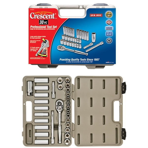 Crescent Ctk30set 30-piece Socket And Tool Set