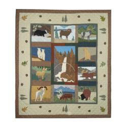 Rocky Mountain Cotton Twin-size Quilt