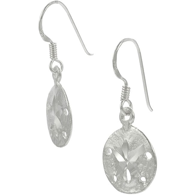Journee Collection Sterling Silver Sand Dollar Earrings