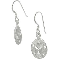 Tressa Sterling Silver Sand Dollar Earrings