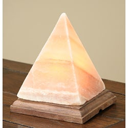 Black Tai Pyramid 6-inch Himalayan Salt Lamp