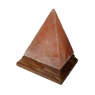 Black Tai Pyramid 6-inch Himalayan Salt Lamp