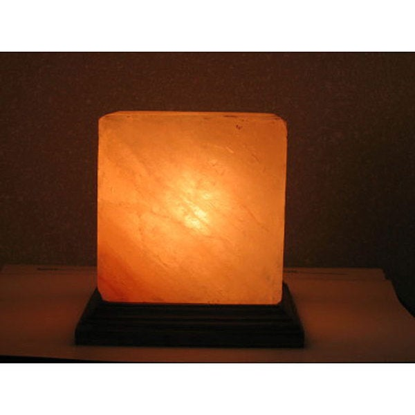 Black Tai 7-inch Cube-shaped Himalayan Salt Lamp