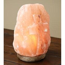 Black Tai Cross Himalayan Salt Lamp with Cord