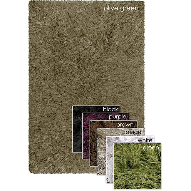 "Hand-Tufted Contemporary Mandara Polyester/Cotton Rug (7'9"" Round)"