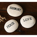 Kabella Inspirational 'Peace, Love, Harmony' Stones