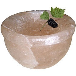 Black Tai Himalayan 8-inch Salt Serving Bowl