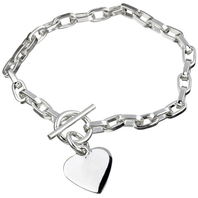 sterling essentials sterling silver 7 5 inch heart id