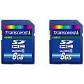 Transcend 8 GB Class 6 SD HC Memory Cards (Case of 2)