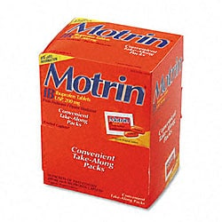 Motrin IB Ibuprofen Tablet Packs (Case of 50)