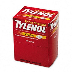 Extra-strength Tylenol 2-count Packs (Case of 50)