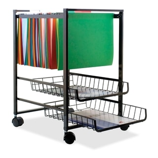Advantus Black Mobile Steel File Cart