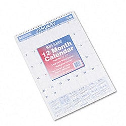 At-A-Glance Ruled Daily Blocks Full-Year Monthly Wall Calendar