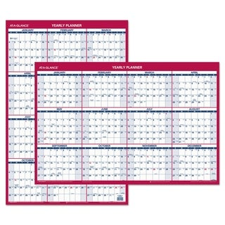 AT-A-GLANCE Erasable Vertical/Horizontal Wall Planner 2016