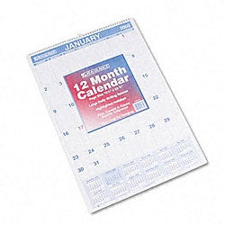 At-A-Glance Blue-Ink Ruled Daily Blocks Monthly Wall Calendar