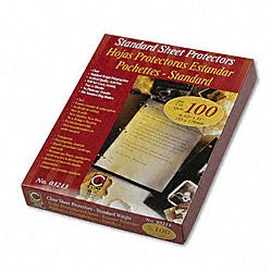 Clear Standard Gauge Poly Sheet Protectors (Case of 100)