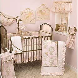 Cotton Tale Lollipops and Roses Four-Piece Infant Crib Bedding Set