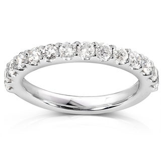 Annello 14k White Gold 3/4ct TDW Diamond Wedding Band (G-H, I1-I2)