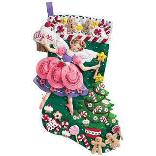 Sugar Plum Fairy Stocking Felt Applique Kit
