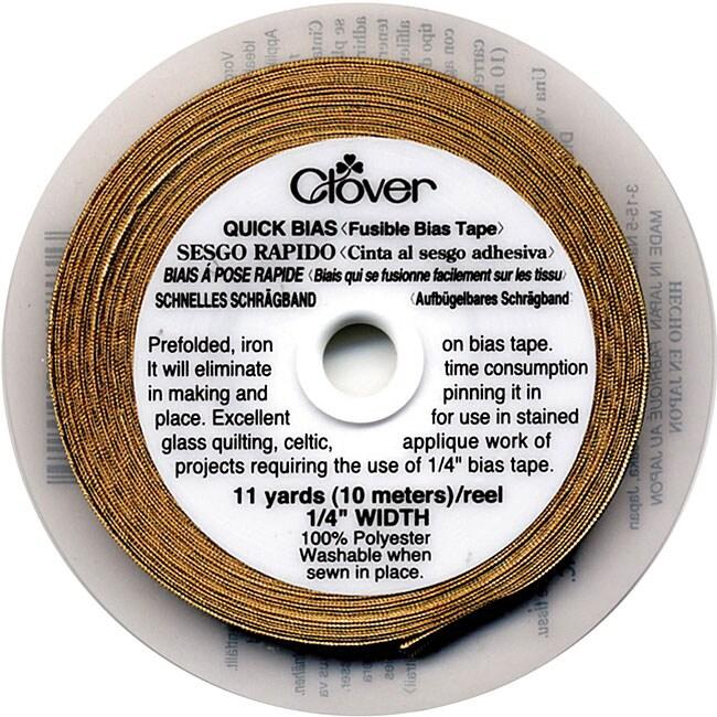 Quick Bias 0.25-in. Gold Lame Fusible Bias Tape
