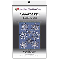 Holiday-themed Snowflakes Quilling Kit with Design Instructions