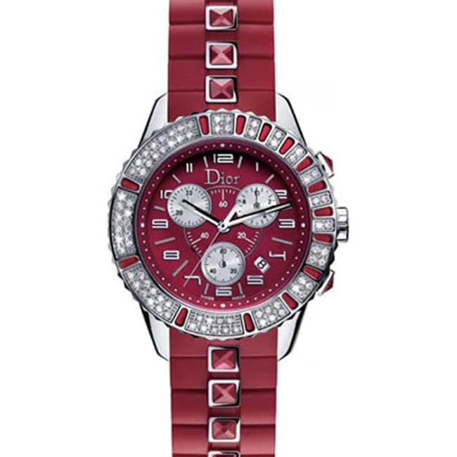 Christian dior christal ruby red women 39 s watch 11492519 shopping big for Christian dior watches