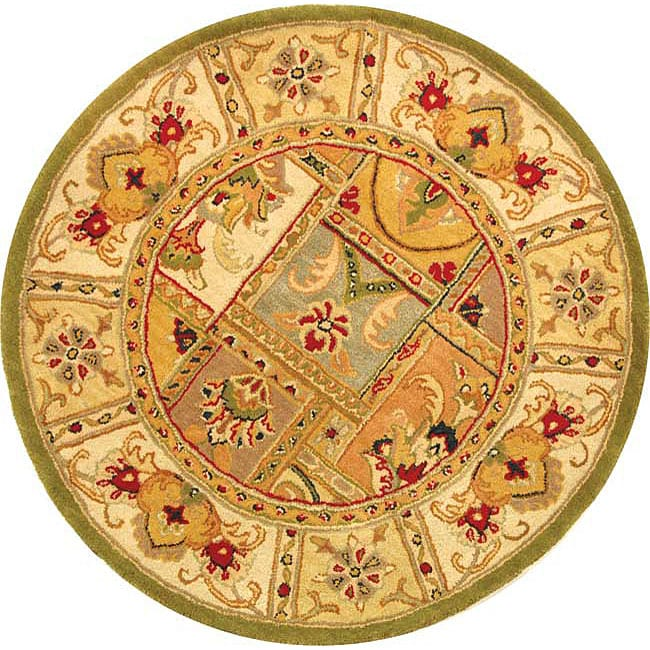 Safavieh Handmade Classic Empire Wool Panel Rug (6' Round)