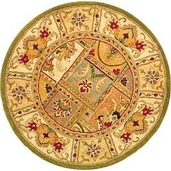 Handmade Classic Empire Wool Panel Rug (6' Round)