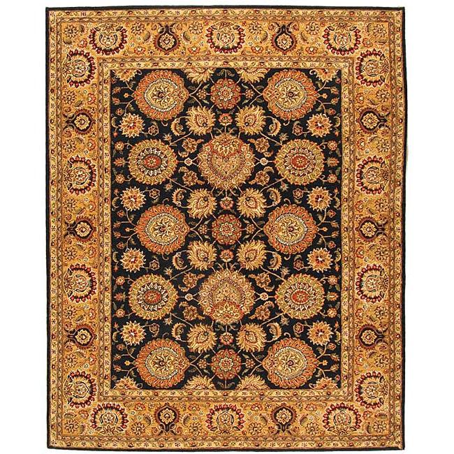 Safavieh Handmade Legacy Navy/ Light Gold Wool and Silk Rug (8'6 x 11'6)
