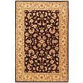 Safavieh Handmade Burgundy/ Beige Wool and Silk Rug (5' x 8')